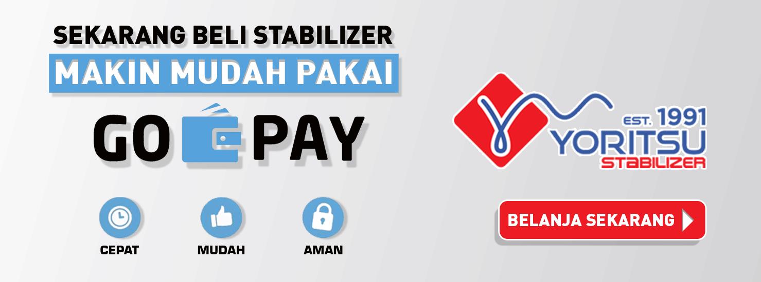 beli Stabilizer Yoritsu lebih mudah pakai GoPay