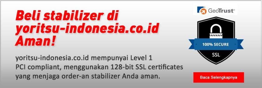 belanja stabilizer di yoritsu indonesia aman