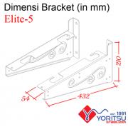 elite-5_Bracket-Yoritsu-5kva-dimensi